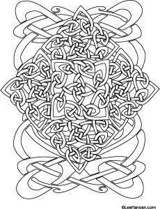 Celtic Designs Coloring Page