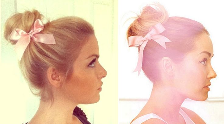hair style in a bun dreams ballerina bun with a bow conrad 2075