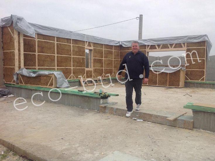 строительство дома из соломенных панелей в Харькове