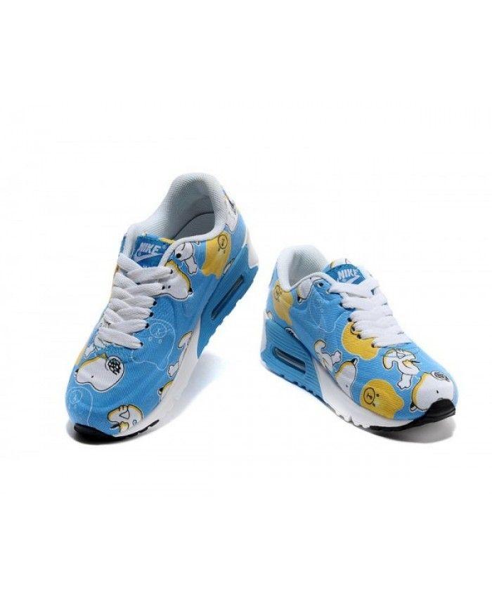 hot sale online 8a6e0 ba2f4 Kids Nike Air Max 90 White Blue Yellow 6809331-042