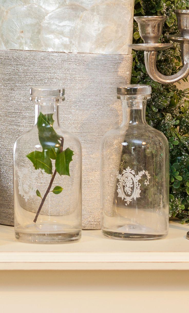 Magical glass, pure leaves, elegant prints!