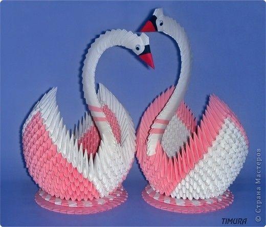 Пара лебедей и как сделать клюв