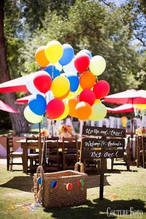 Fancy That! Events, Hot Air Balloon Theme, First Birthday Ideas, Photo Prop, Hot Air Balloon Basket, Balloons, Malibu Cafe, Fancy Baby, Details, Umbrellas, Rustic, Shabby Chic, Up up and away, Couture Foto