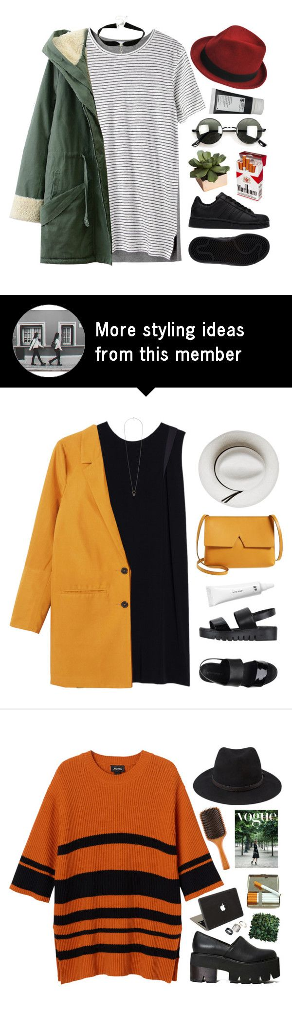"""""""#872"""" by maartinavg on Polyvore featuring T By Alexander Wang, Retrò, adidas, Stetson, Korres and CB2"""
