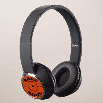 Rare Soul Music 7 Inch 45 RPM Vinyl DJ Headphones - retro gifts style cyo diy special idea