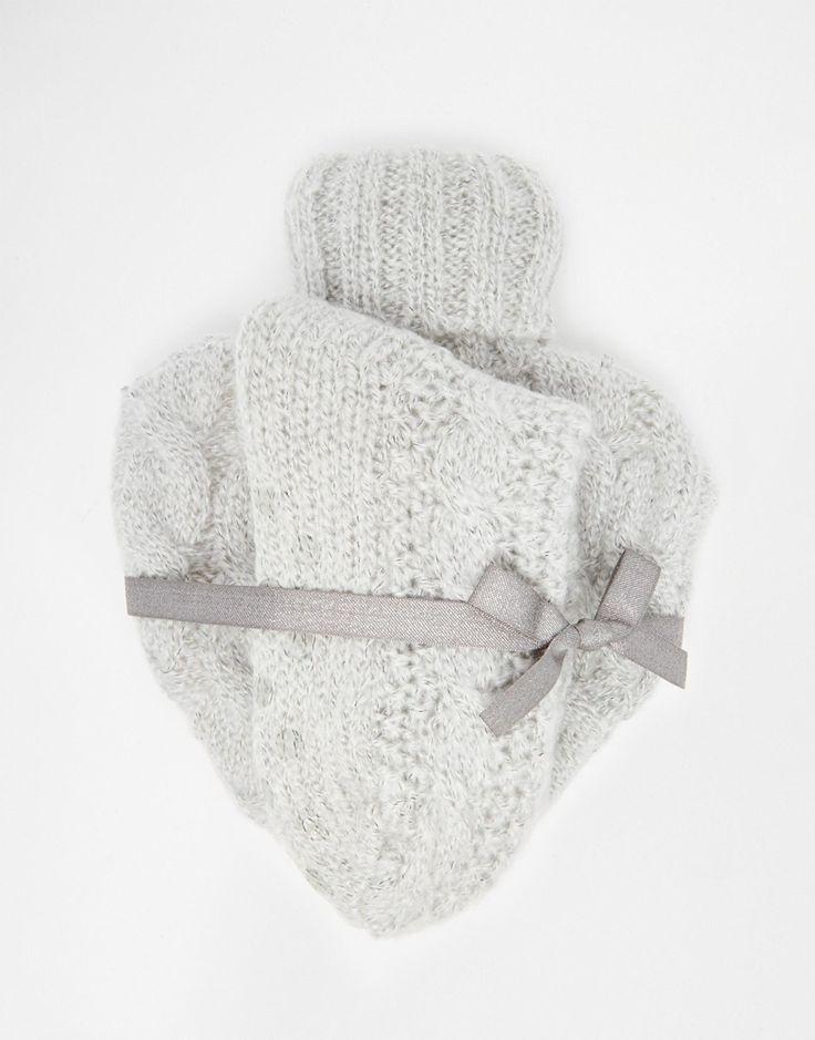 ASOS+Christmas+Knitted+Heart+Hot+Water+Bottle+And+Socks+Set