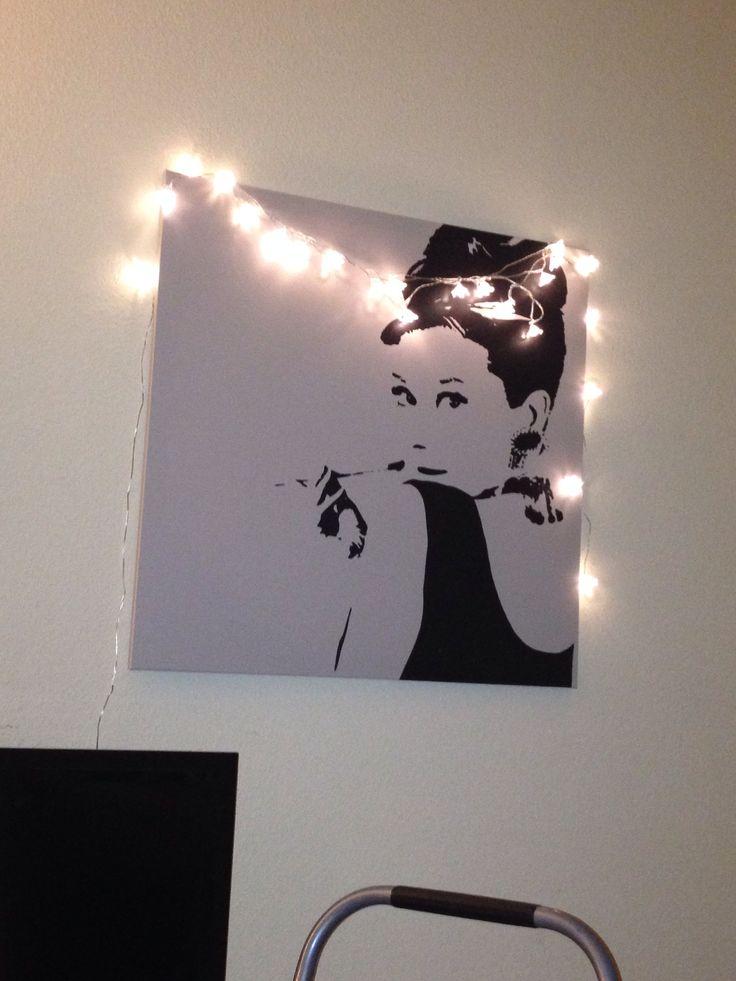 art audrey hepburn piece from ikea lights also from