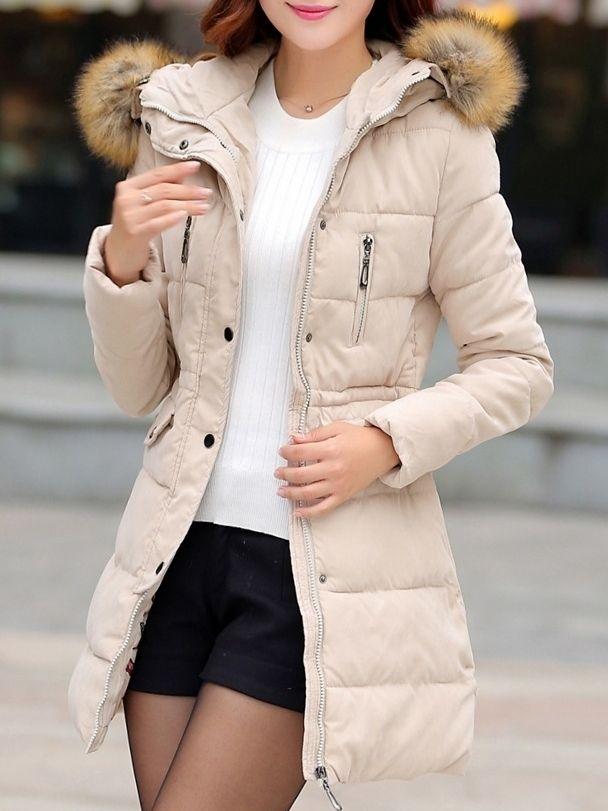 Ladylike   Fashionable With Pocket Overcoat Overcoats from fashionmia.com