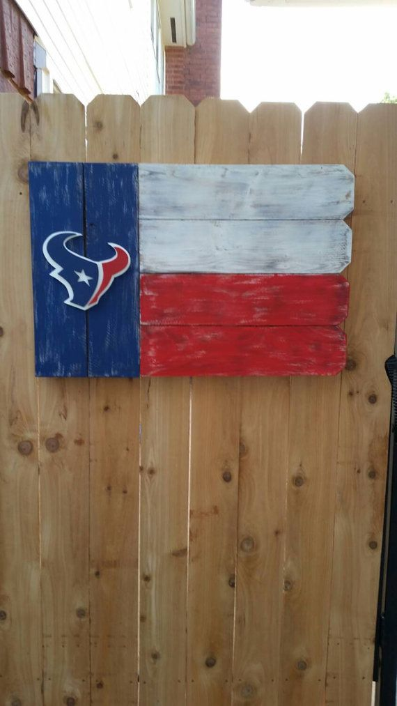Houston Texans Outdoor Wooden Sign by ARepurposedPurpose on Etsy