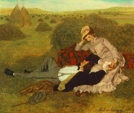 Szinyei Merse Pál | Szerelmespár, 1870 Olaj, vászon, 53,5 x 63,5 cm Magyar Nemzeti Galéria, Budapest