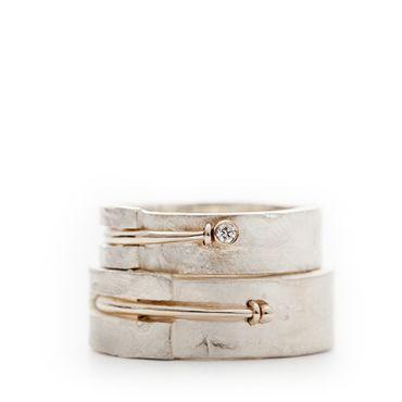 Zilveren trouwringen wit goud | Wim Meeussen &CTRA Zilveren Juwelen Antwerpen