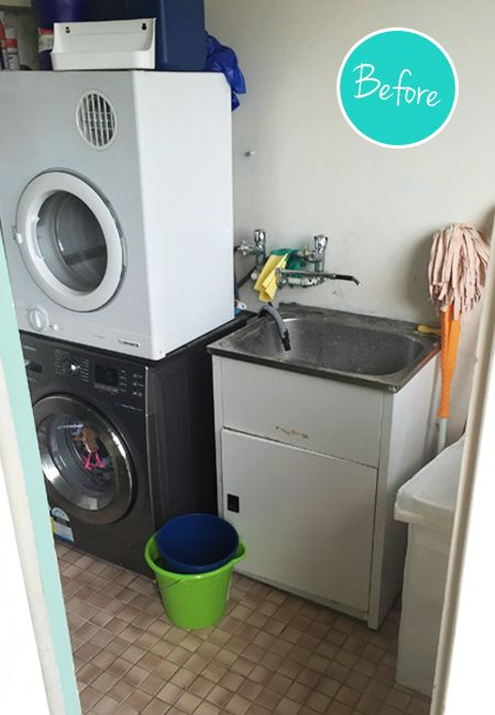 When I last posted, our laundry renovation was looking like this: I've had a few people ask me about the cabinetry, so bear with me while I backtrack a little. During one of our regular strolls through IKEA (What? Your family doesn't do this?), I fell in lust with this METOD display