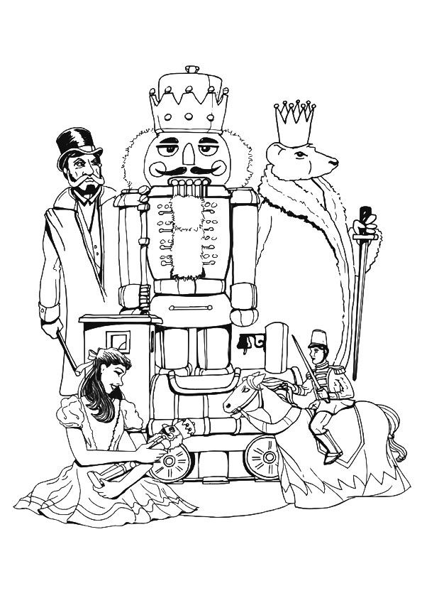 9 best nutcracker ballet coloring pages images on for Nutcracker ballet coloring pages