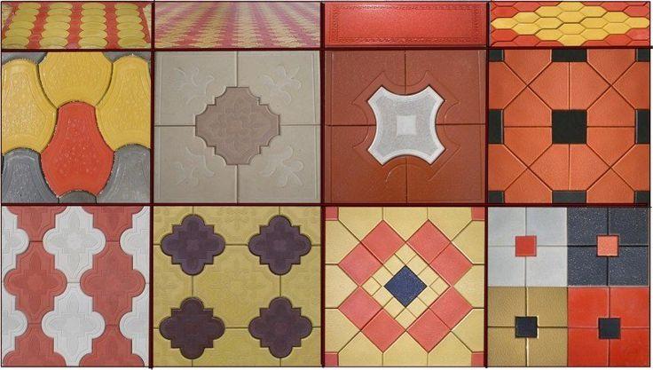 carrelage imitation carreaux de ciment coloré à motifs divers