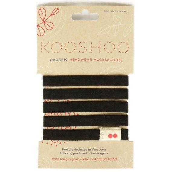 Black LILA Organic Hair Ties. Best Selling Black Hair Elastics Thick Hair.  Super Comfortable Organic 9e077495197