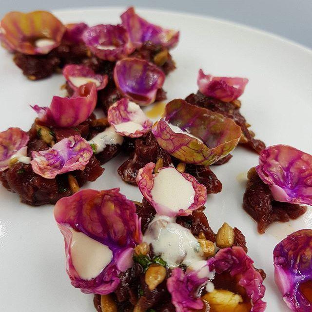 Kangaroo Tartare + Sunflower Seed + Heirloom Sprouts