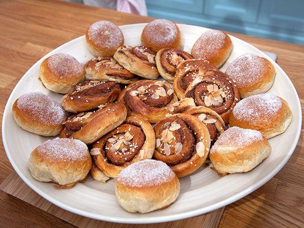 Sanslösa kanelsnäckor och Ljuvliga vaniljbullar | Recept.nu