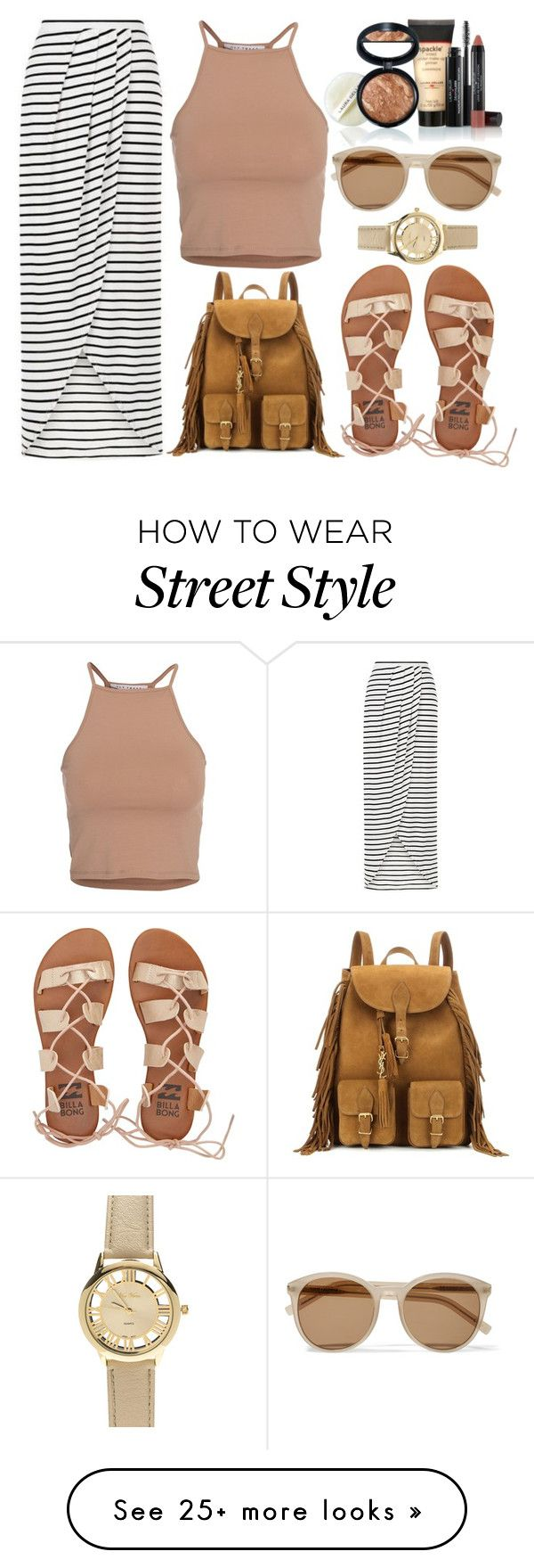 """""""Street Style (Coachella)"""" by gz-d on Polyvore featuring NLY Trend, New Look, Billabong, Yves Saint Laurent and Laura Geller"""