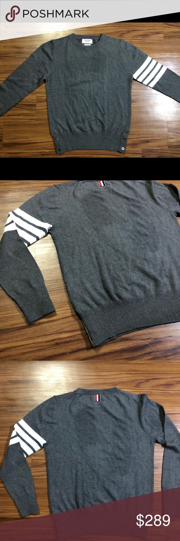 Thom Browne four stripe sweater 100%cashmere Brand new never worn without tags Thom Browne Sweaters Crewneck