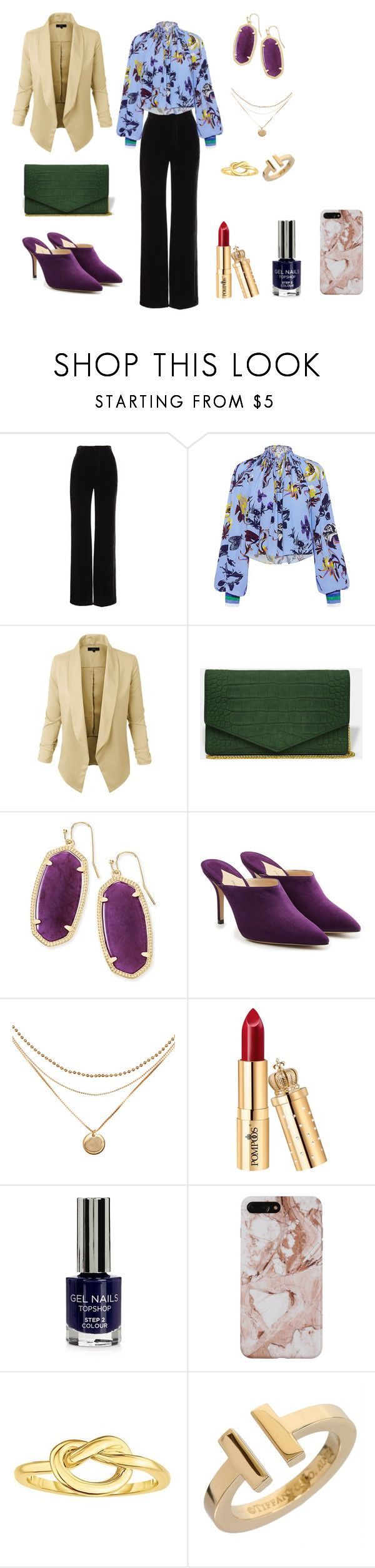 """""""triangulo o pera"""" by ananleke on Polyvore featuring moda, Vince, TIBI, LE3NO, Kendra Scott, Paul Andrew, Topshop y Tiffany & Co."""