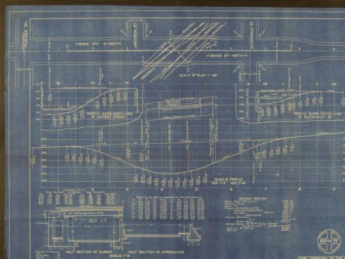 Thru terminal at the Plaza, study plan of Vignes St. subway, 1933. http://digitallibrary.usc.edu/cdm/ref/collection/p15799coll6/id/60
