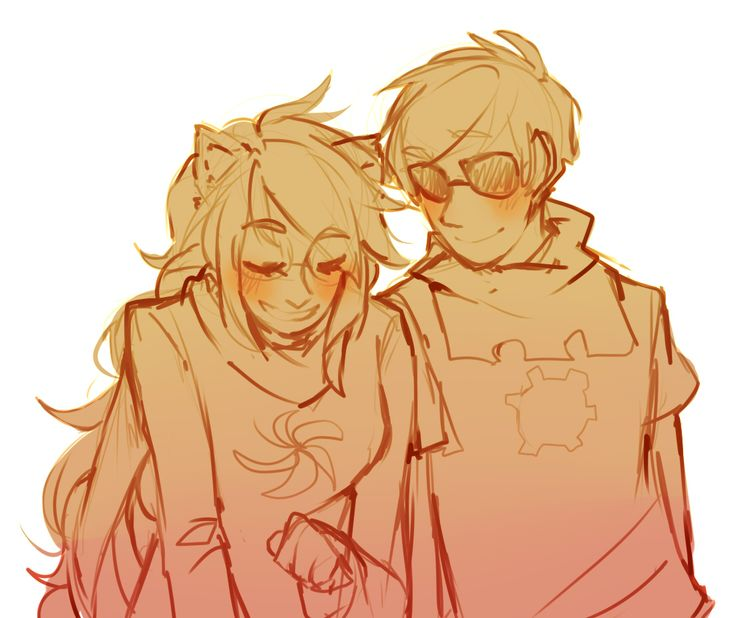 I don't ship it but this fanart is soo cute of Dave and Jade.