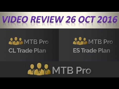 MTBPro Futures Contracts Trade Plan Review ES and CL - Trade plans were posted before the European Trading Session on the 26th Oct 2016 ans this is what happened....