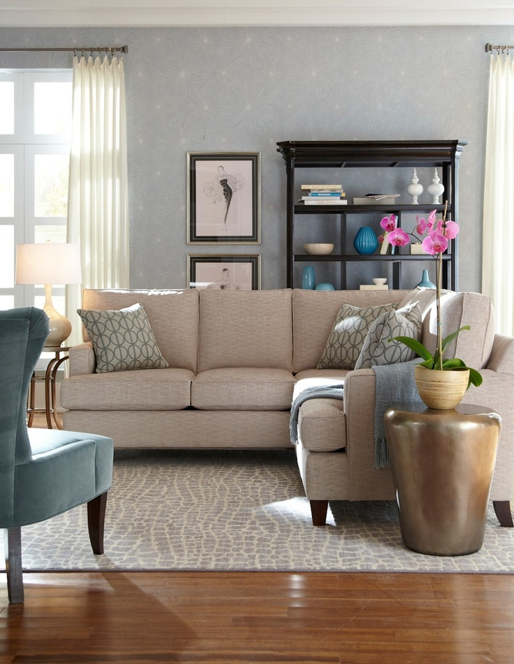 Home Living Room Sofa Sectional HGTV Furniture Collection