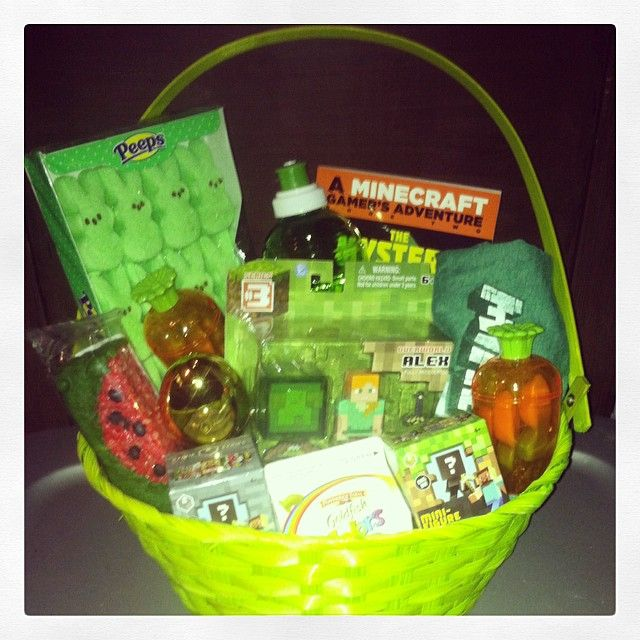 23 best easter basket ideas images on pinterest gift ideas perfect minecraft easter basket and a few items came from the dollar tree negle Choice Image