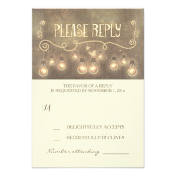 vintage rustic wedding RSVP cards with rope lights - lightbulbs design #whimsical #wedding #rsvp #string #lights #wedding #rsvp #light #bulbs #wedding #rsvp #rustic #wedding #rsvp #vintage #wedding #rsvp #romantic #wedding #rsvp #creative #wedding #response #old #typography #wedding #rsvp #handwritten #rsvp #lightbulbs #wedding #reply #dreamy #reply #cards #special #rsvp