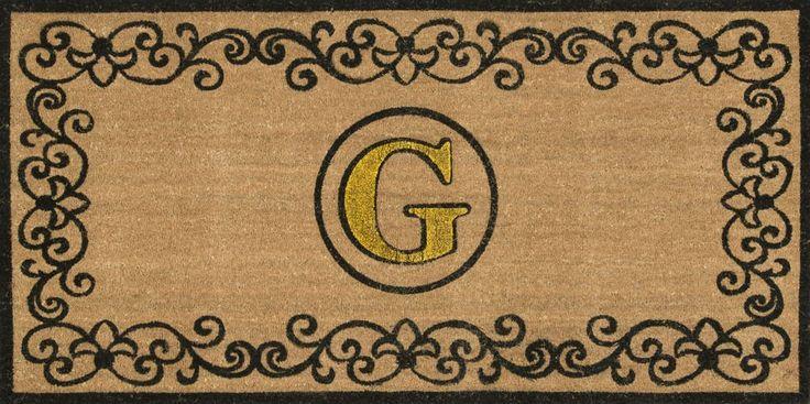 NuLOOM Machine Made Outdoor Doormat Rug Letter G