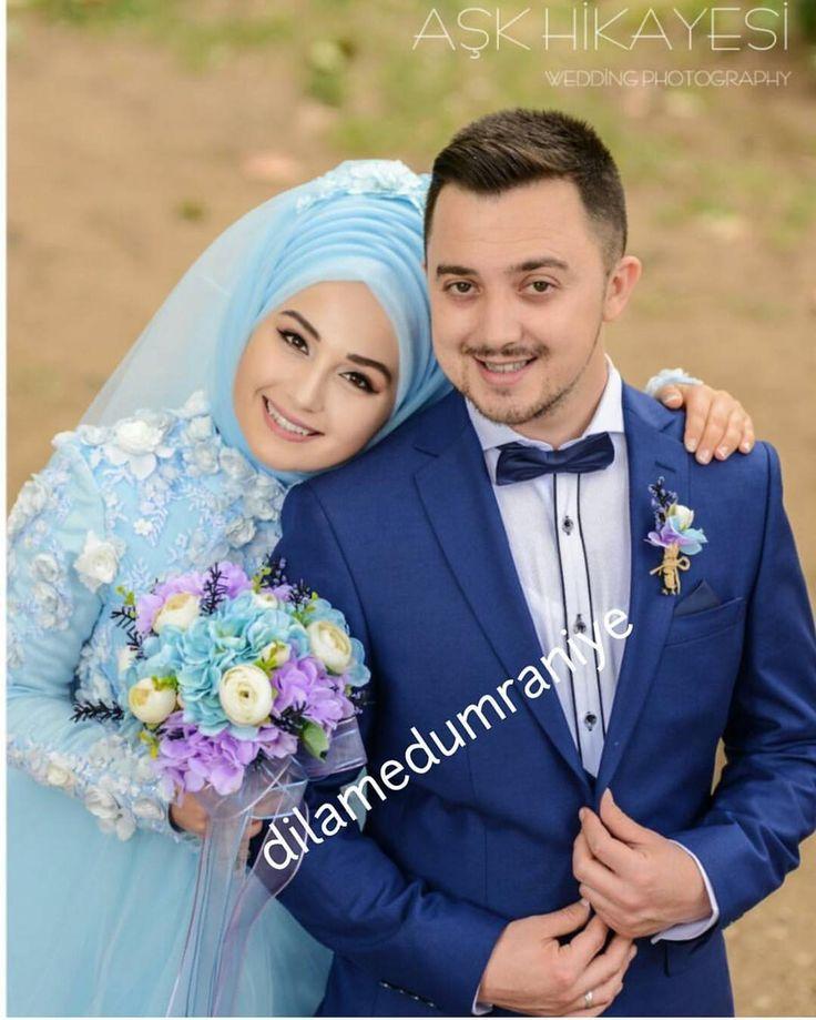 Maşallah ne kadar yakışmışlar 🤵👰😍😍💕💕 @dilamedumraniye 🙏👏👏 . . .💕👰💕💐💐. . . #gelinbasi #gelinsaci #gelin #gelinlik #tesettür #türban #hijab #hijabstyle #hijabfashion #style #fashion #weddingday #wedding #hijabstyleicon#muslim#muslimah#hijaber#kuafor #makyaj #makeup #mua #f4f #tagsforlike #like #l4l#istanbul #beylikdüzü #bridal#hijabers#dilamed
