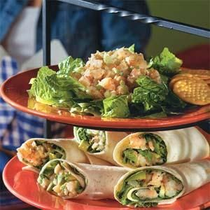 Chilled shrimp salad is an ideal filler for a lunch roll-up or a plated salad. Simply serve a scoop of the salad over lettuce, pair with crackers, and enjoy.