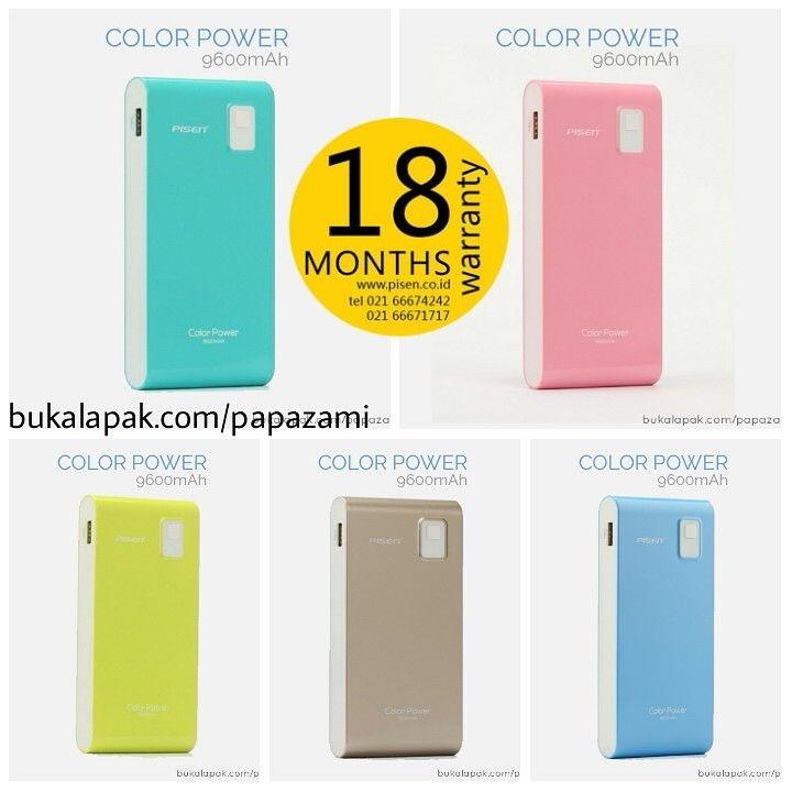 *** 18 months warranty *** Ada 5 pilihan warna cantik dan klasik Pisen Color Power Box 9600mAh. Cuma 265rb.  Online shopping: www.bukalapak.com/papazami  Fast Order: HP/WA/TG: 0815-1100-6400 BBM: 5E2E9F7F LINE ID: papazami  #pisen #powerbank #papazami #onlineshop