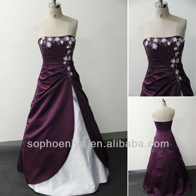 14 best images about purple wedding on pinterest for Wedding dress with purple embroidery