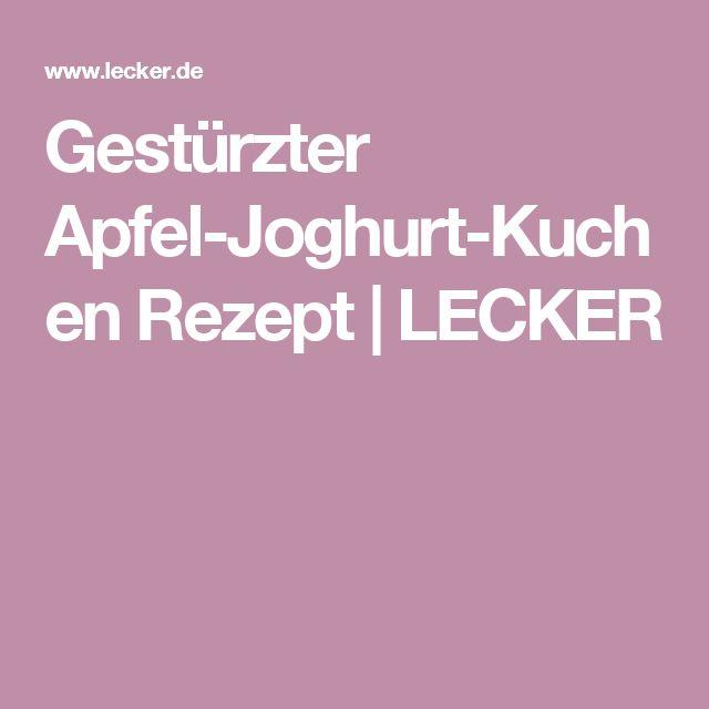Gestürzter Apfel-Joghurt-Kuchen Rezept   LECKER