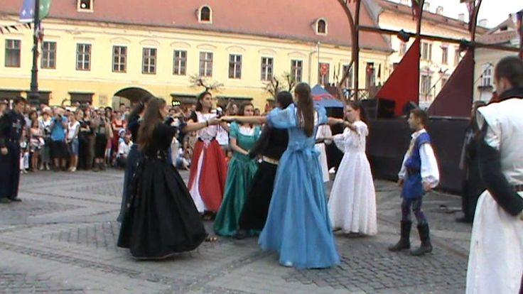 Cavalerii Cetatii Rosii at the Medieval Festival Sibiu, Romania, August ...