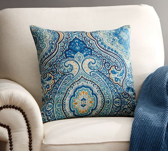 Throw Pillow Pottery Barn : Beale Paisley Reversible Pillow Cover Pottery Barn Living Room Pinterest