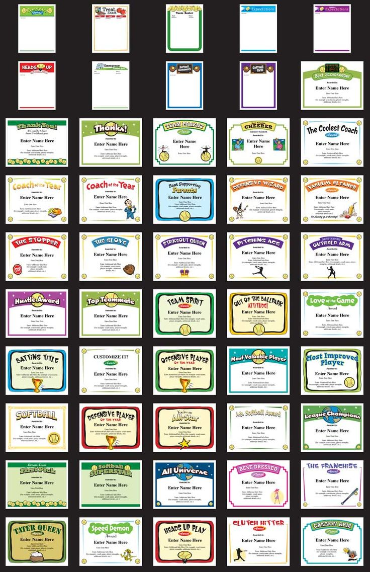 77 best award certificates templates images on pinterest award 50 softball award certificate templates personalize print and present softball coaching team yadclub Choice Image