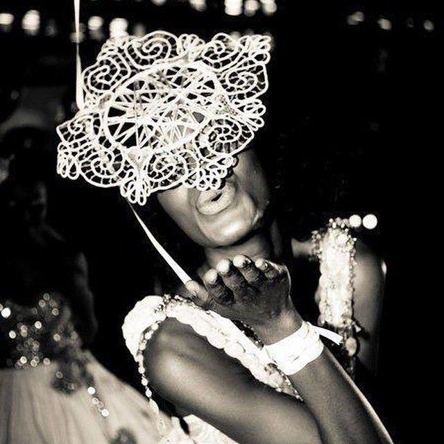 Vintage Lace Mask - Suzy O'Rourke Millinery