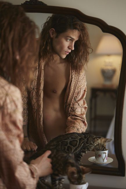 Miles McMillan in Dries Van Noten, photography by Sebastian Faena