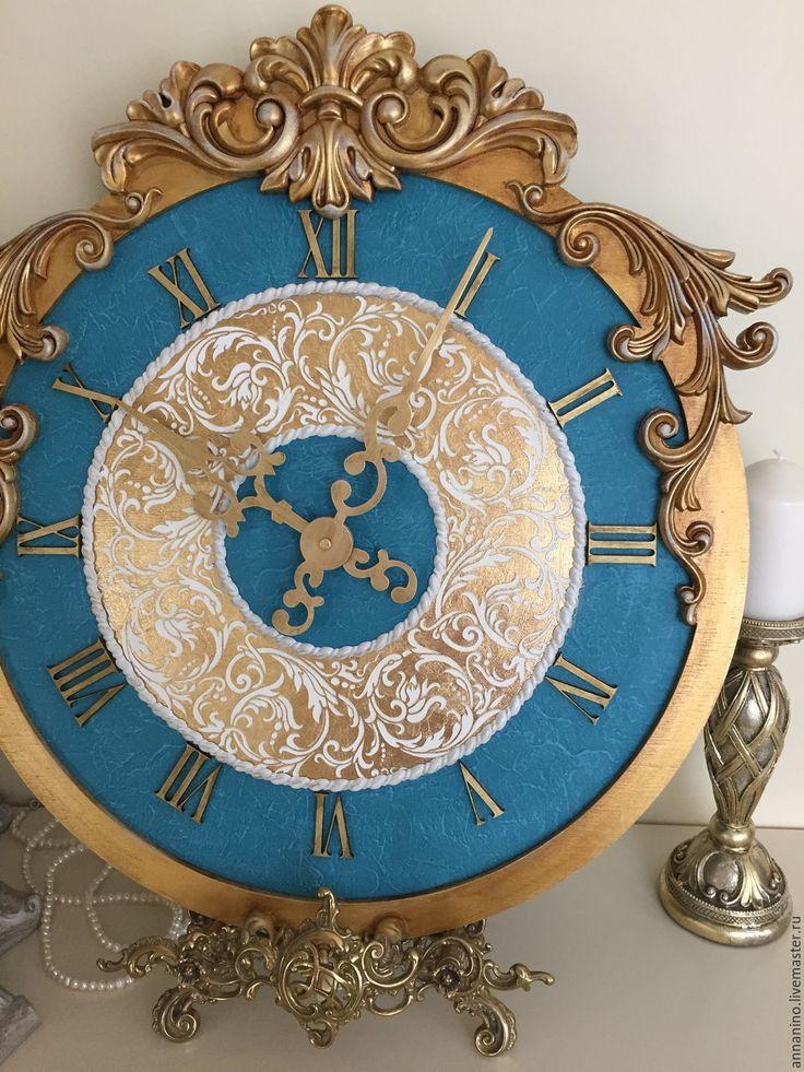 Купить Часы настенные  Rich Gold - часы настенные, часы ручной работы, часы для дома