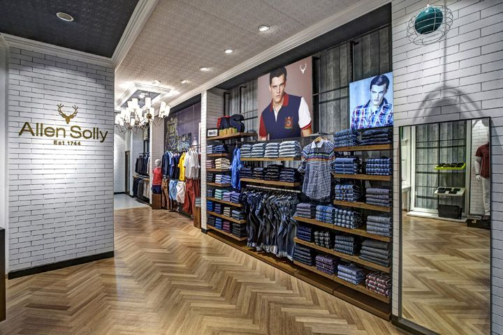 Allen Solly fashion store by Dalziel and Pow, Bangalore   India store design // para gráfico