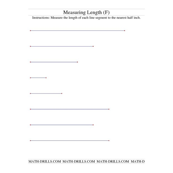 measurement worksheet measuring length of line segments in inches f social work with the. Black Bedroom Furniture Sets. Home Design Ideas