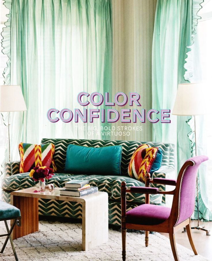 Can't get enough of the COLOR! Curtains, Decor Ideas, Aqua Blue, Livingroom, Colors, Living Room, Miles Redd, Windows Shades, Windows Treatments