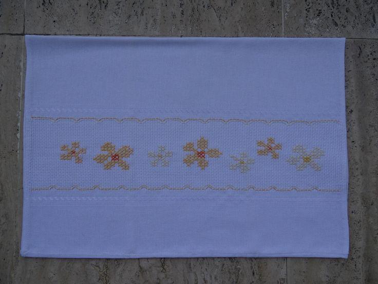 Cross-stitch flowers