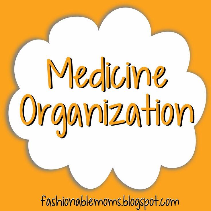 Fashionable Moms: Medicine Organization: FREE Printable Labels