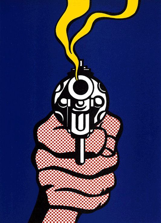 Roy Lichtenstein - used for Time's 'The Gun In America' issue - I Love that his colour palette tends to just stick with the primary colours