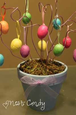 Cute egg tree   Found on nestcandy.com: Craft Ideas, Holiday Decor