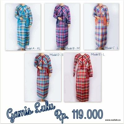 Gamis Lulu @ 119.000   Only at www.nailah.co / SMS/WA: 0878 8718 2020 / BB: 748A8C99 /  FB: Nailah.co / IG/Twitter: @Nailah Williams.co
